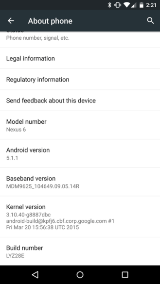 Android Lollipop 5.1.1