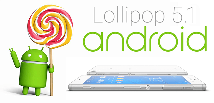 Android Lollipop 5.1 para Sony Xperia serie Z.fw