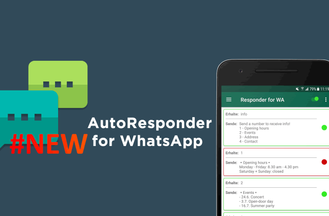 AutoResponder for WhatsApp™ v0.6.2 Pro #NEW